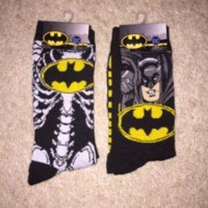 2 pair DC Comics Batman socks